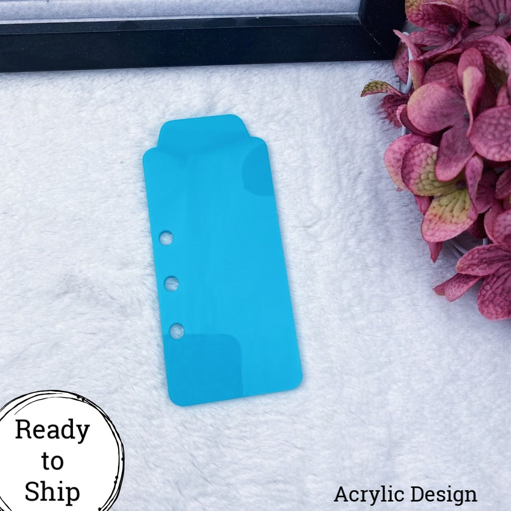 A5 Rings/A5 Wide Rings Teal Acrylic Top Tab - Ready to Ship