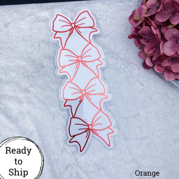A5 TN Orange Stacked Bow Tab - Ready to Ship