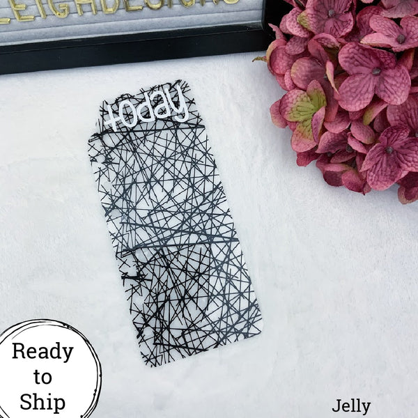 A6 Rings Jelly Black Lines Today Tab - Ready to Ship
