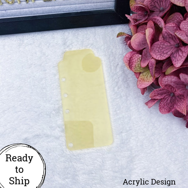 A6 Rings Citrus Acrylic Top Tab - Ready to Ship