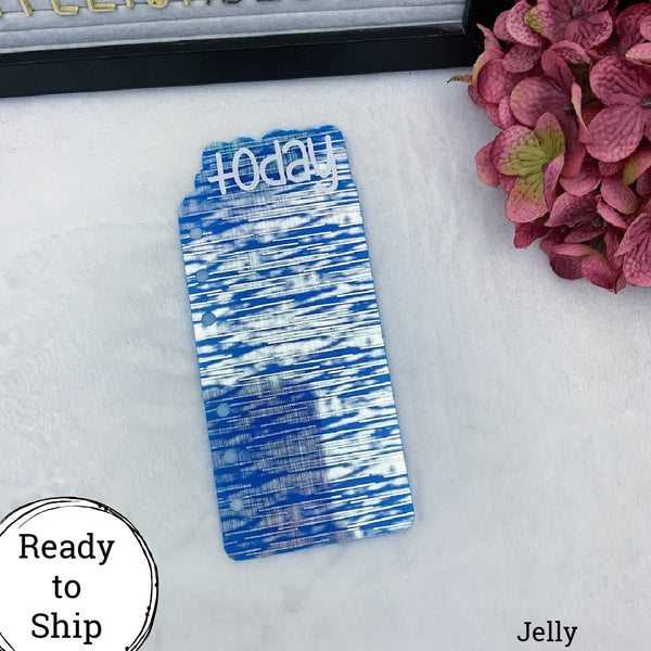 A6 Rings Jelly Holo Blue Today Tab - Ready to Ship