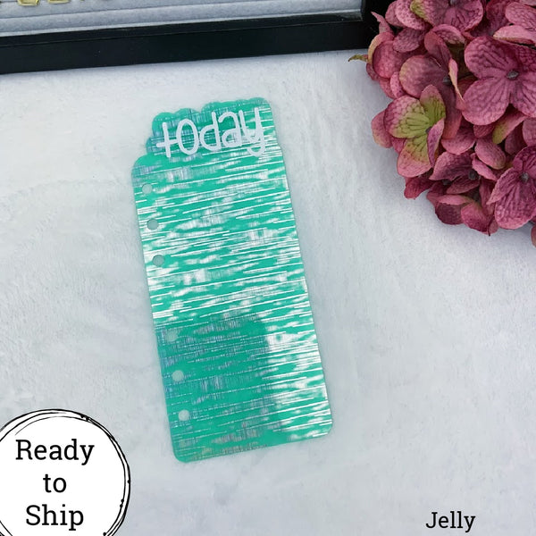 A6 Rings Jelly Holo Green Today Tab - Ready to Ship