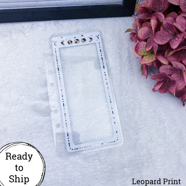 A6 Rings Leopard Print Moon Phase Planner Tabs - Ready to Ship