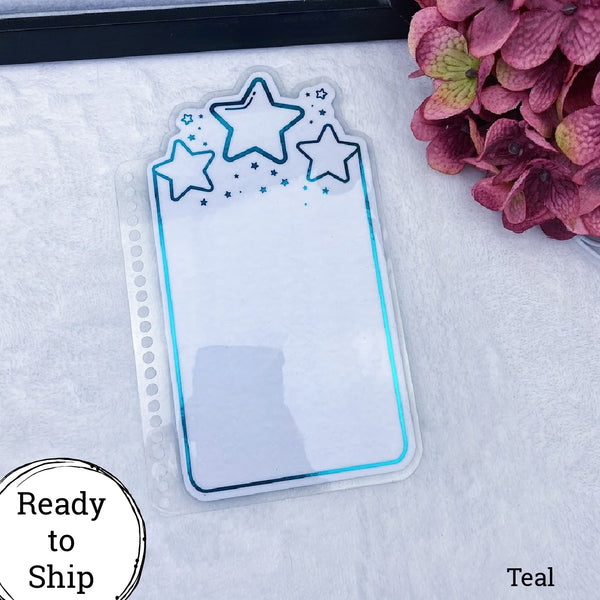 B6 Spiral Bound Teal Center Stars Planner Tab - Ready to Ship
