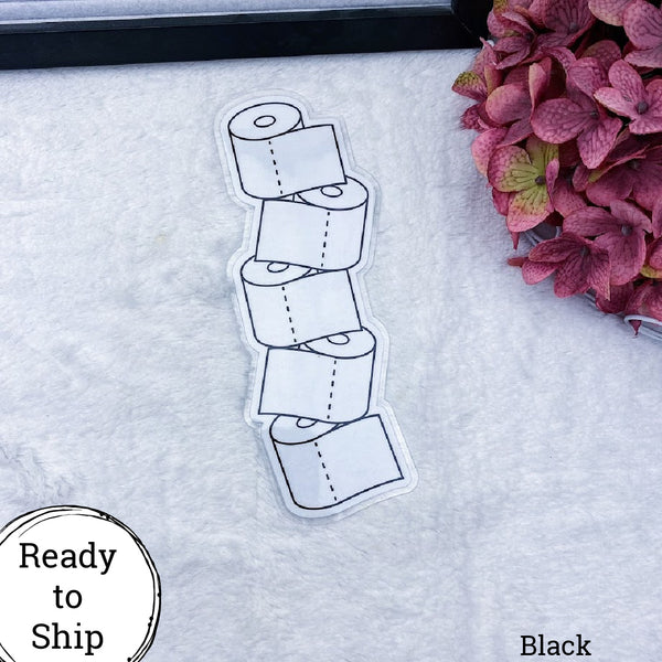 B6 TN Black Stacked TP Planner Tab - Ready to Ship