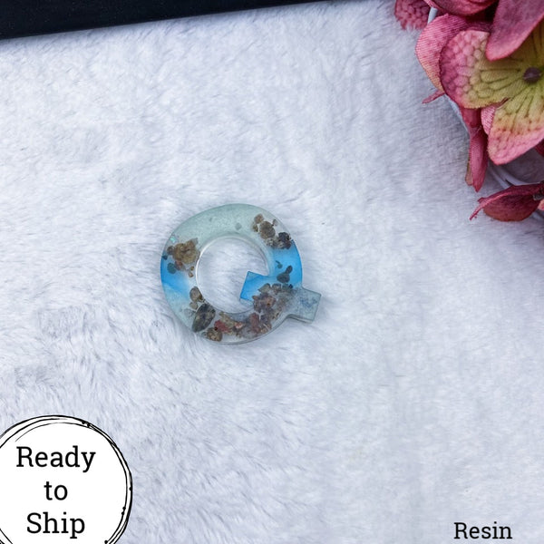 Resin Letter Q Beachy - Ready to Ship