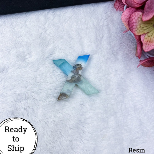 Resin Letter X Beachy - Ready to Ship