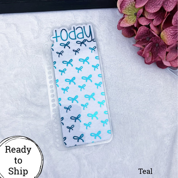 Spiral Bound Teal Bows Today Tab - Ready to Ship