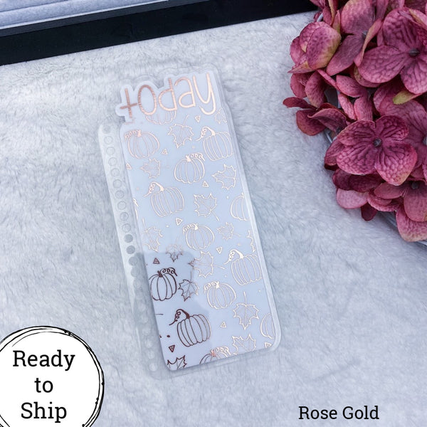 Spiral Bound Rose Gold Fall Pumpkins Today Tab - Ready to Ship