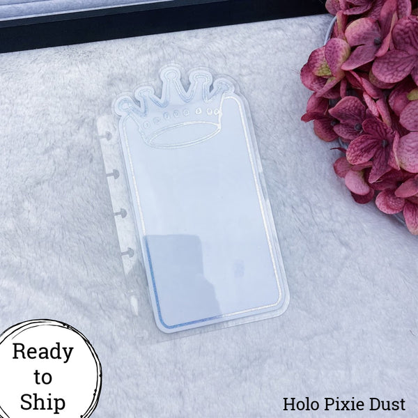 Happy Planner Holo Pixie Dust Center Crown Tab - Ready to Ship