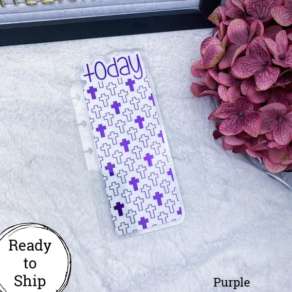 Happy Planner Purple Crosses Today Tab - Ready to Ship