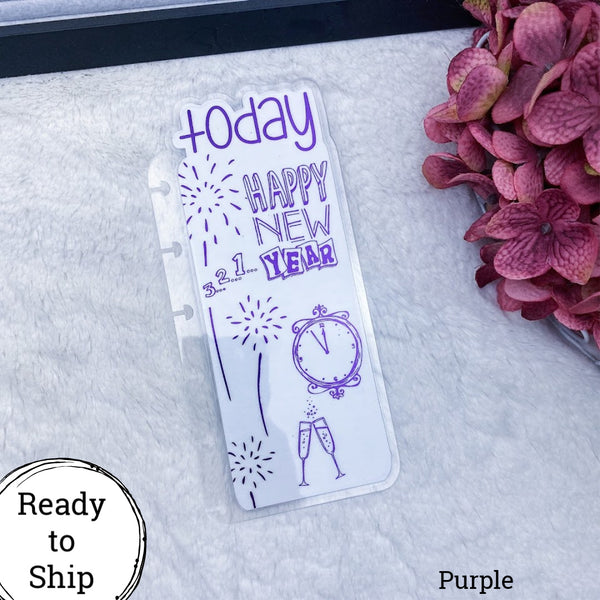 Happy Planner Purple Happy New Year Today Tab - Ready to Ship