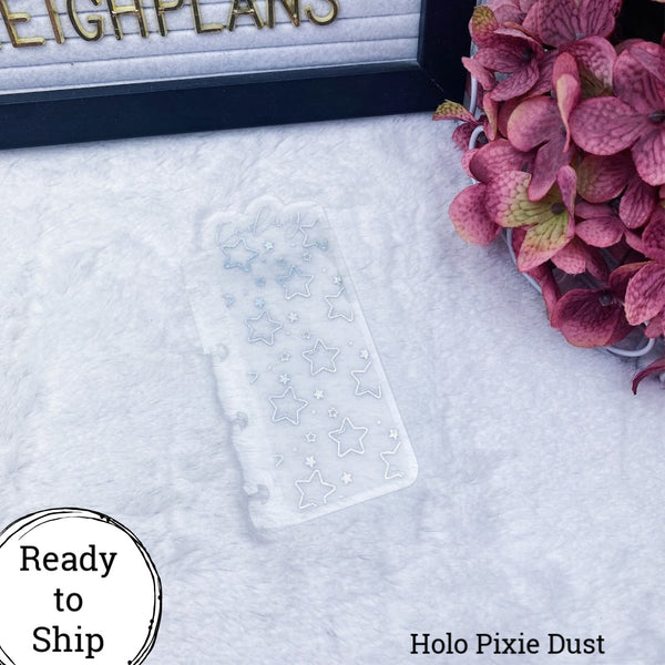Micro Discs Holo Pixie Dust Star Pattern Today Tab - Ready to Ship