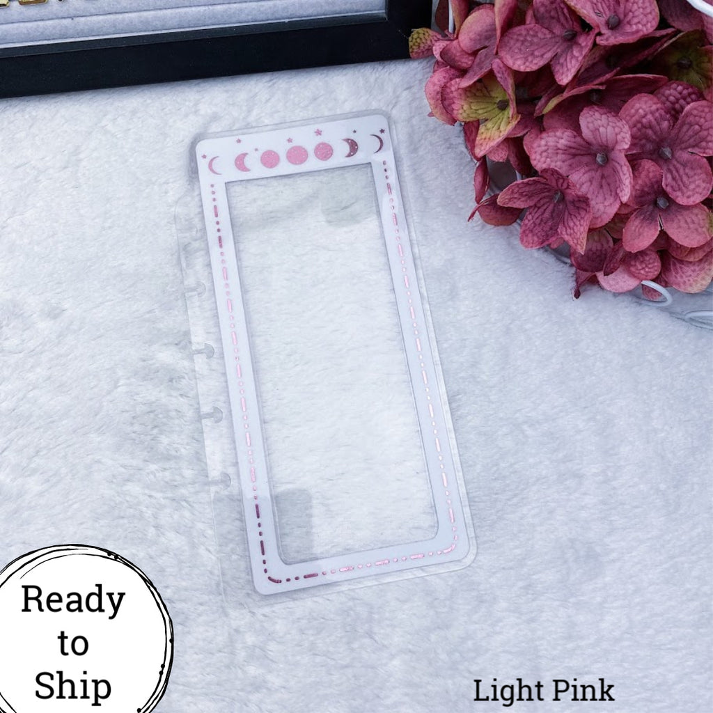 Discs Light Pink Moon Phase Planner Tab - Ready to Ship