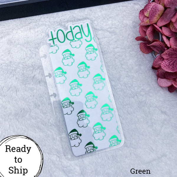 Happy Planner Green Santa Today Tab - Ready to Ship