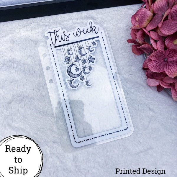 Happy Planner Dashed Lined This Week Star Dangle Tab - Ready to Ship