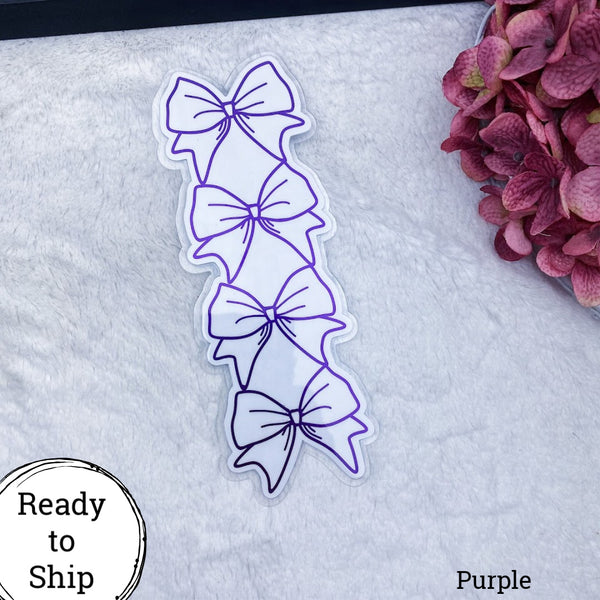 Hobonichi Weeks Purple Stacked Bow Tab - Ready to Ship