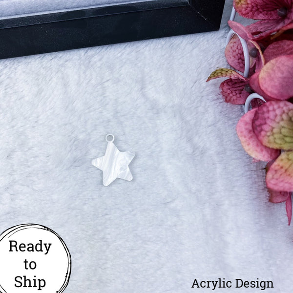 Marble Acrylic Star Charm - Ready to Ship