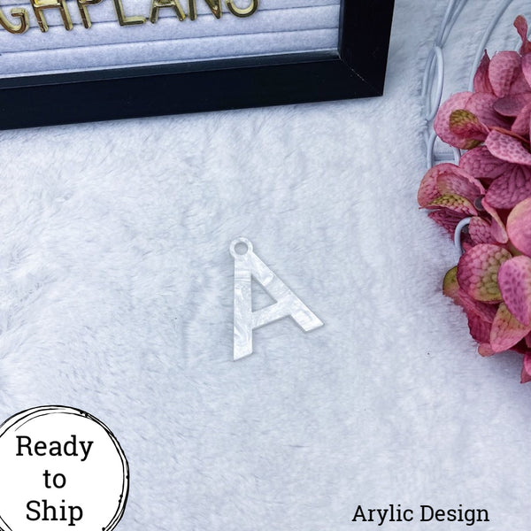 Marble Acrylic Letter A Charm - Ready to Ship