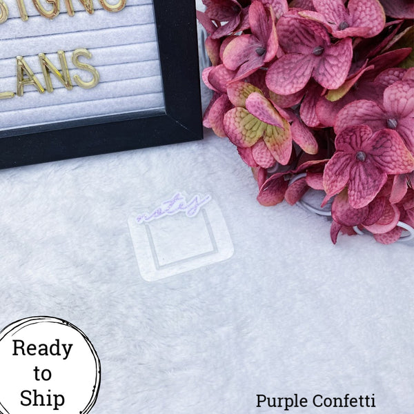 Purple Confetti Mini Notes Planner Clip - Ready to Ship