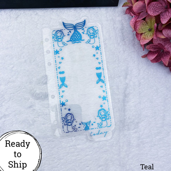 Personal Rings Teal Mermaid Dashboard Tab - Ready to Ship