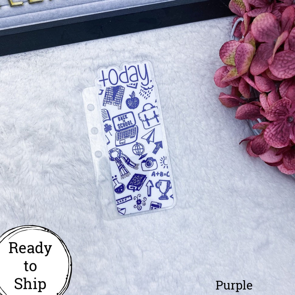Pocket Rings Purple Back to School Today Tab - Ready to Ship
