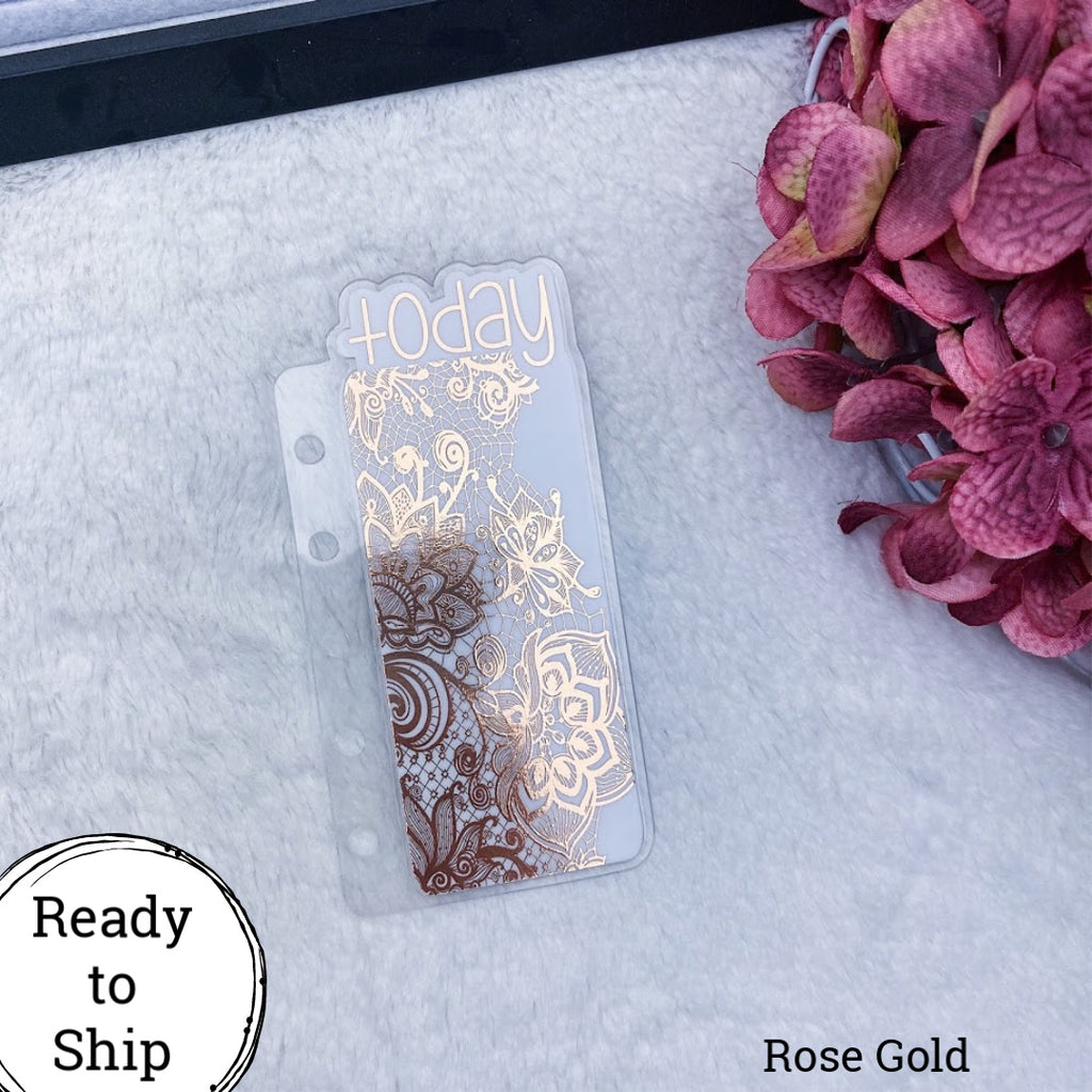 Pocket Rings Rose Gold Lace Today Tab - Ready to Ship