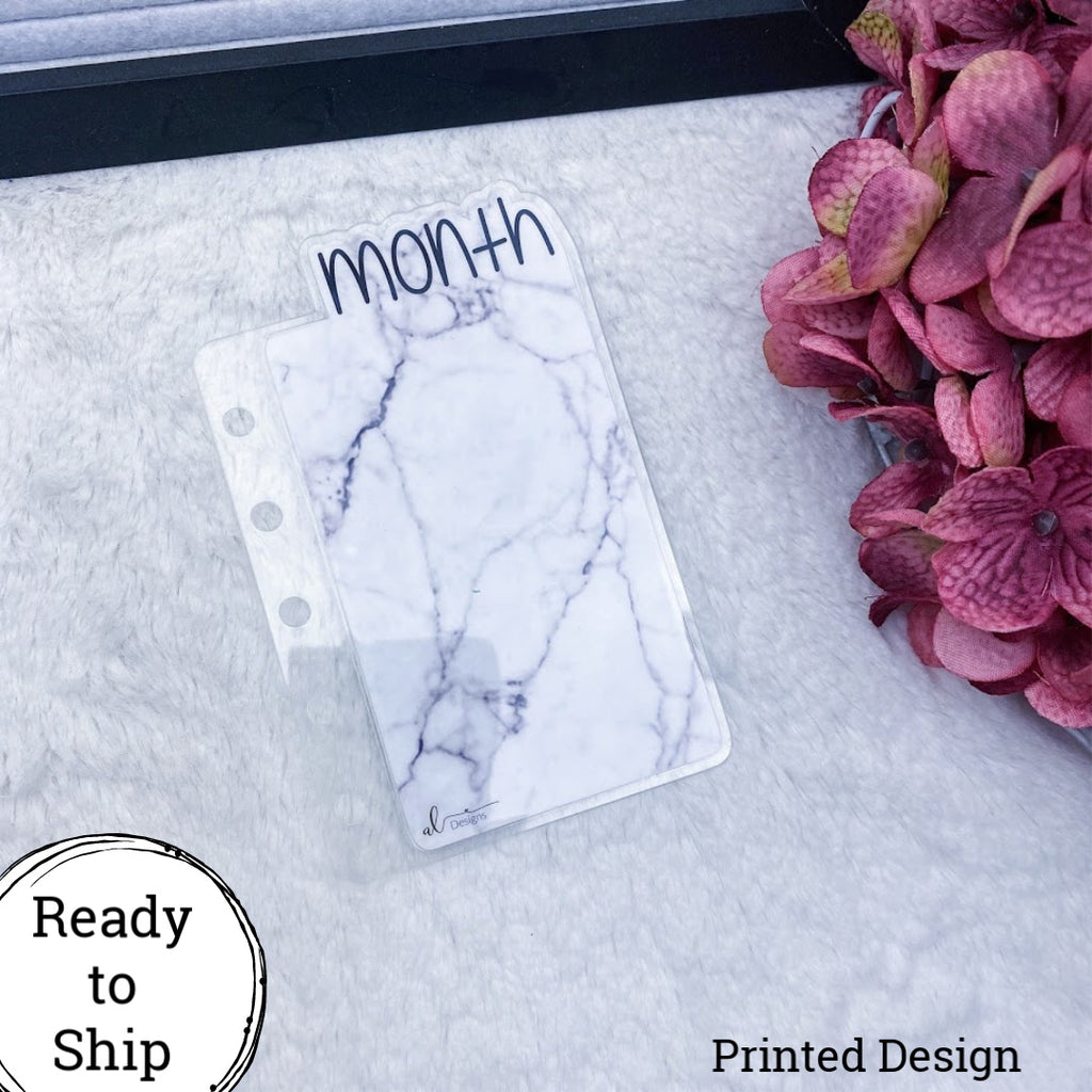 Pocket Rings Marble Month Tab - Ready to Ship