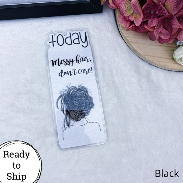 Pocket TN Black Messy Hair, Don't Care Today Tab - Ready to Ship