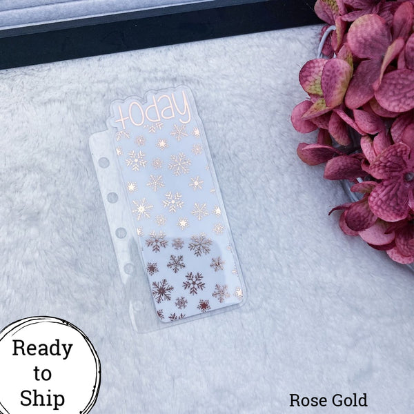 Pocket Rings Rose Gold Snowflakes Today Tab - Ready to Ship