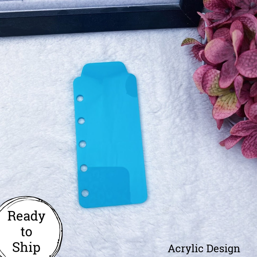 Pocket Rings Teal Acrylic Top Tab - Ready to Ship
