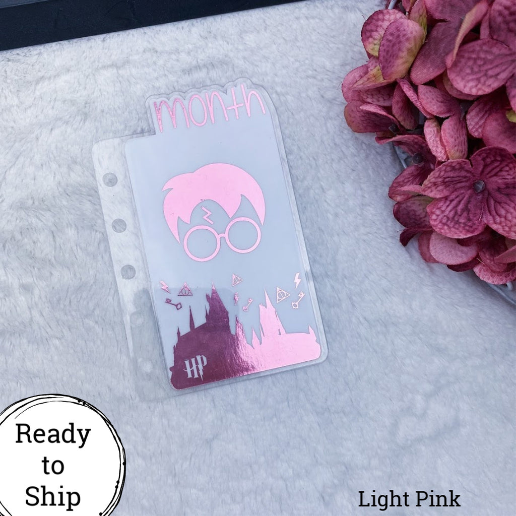 Pocket Rings Light Pink Wizard Month Tab - Ready to Ship
