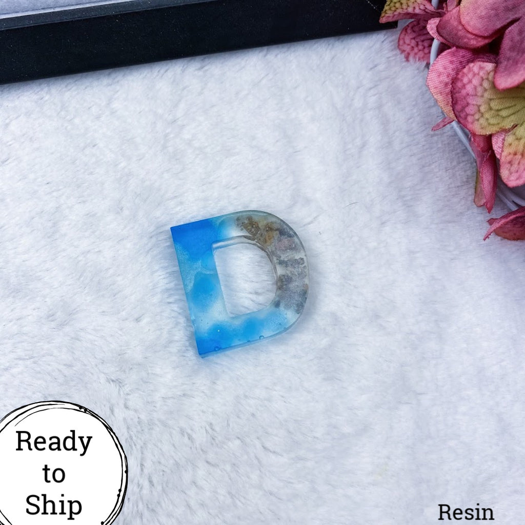Resin Letter D Beachy - Ready to Ship