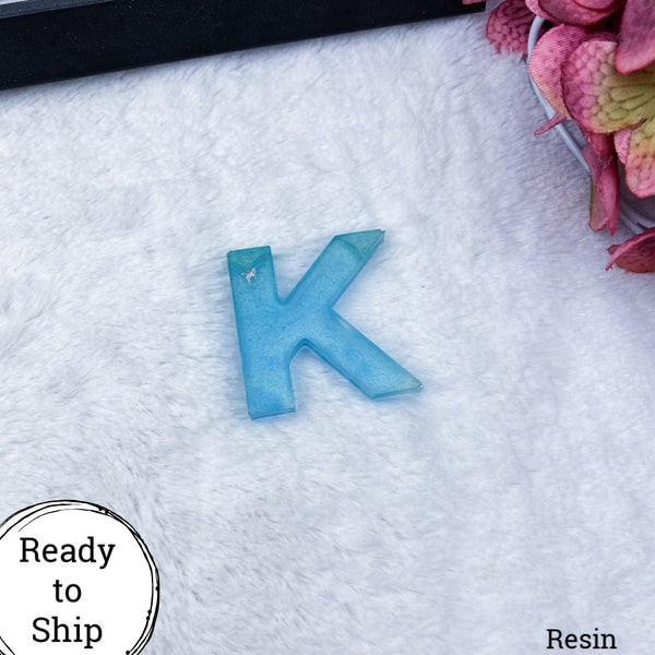 Resin Letter K Blue - Ready to Ship