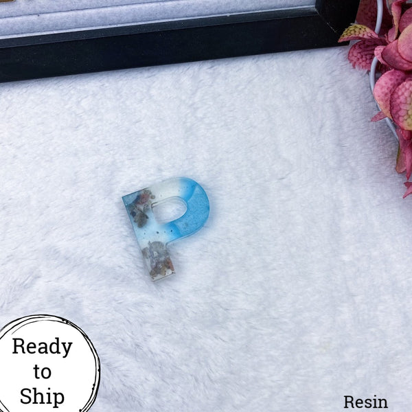 Resin Letter P Beachy - Ready to Ship