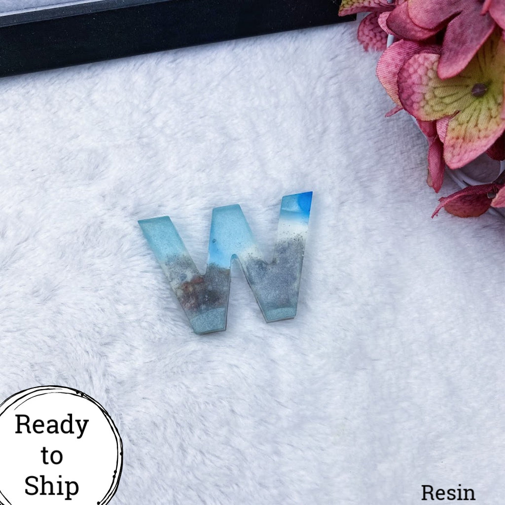 Resin Letter W Beachy - Ready to Ship