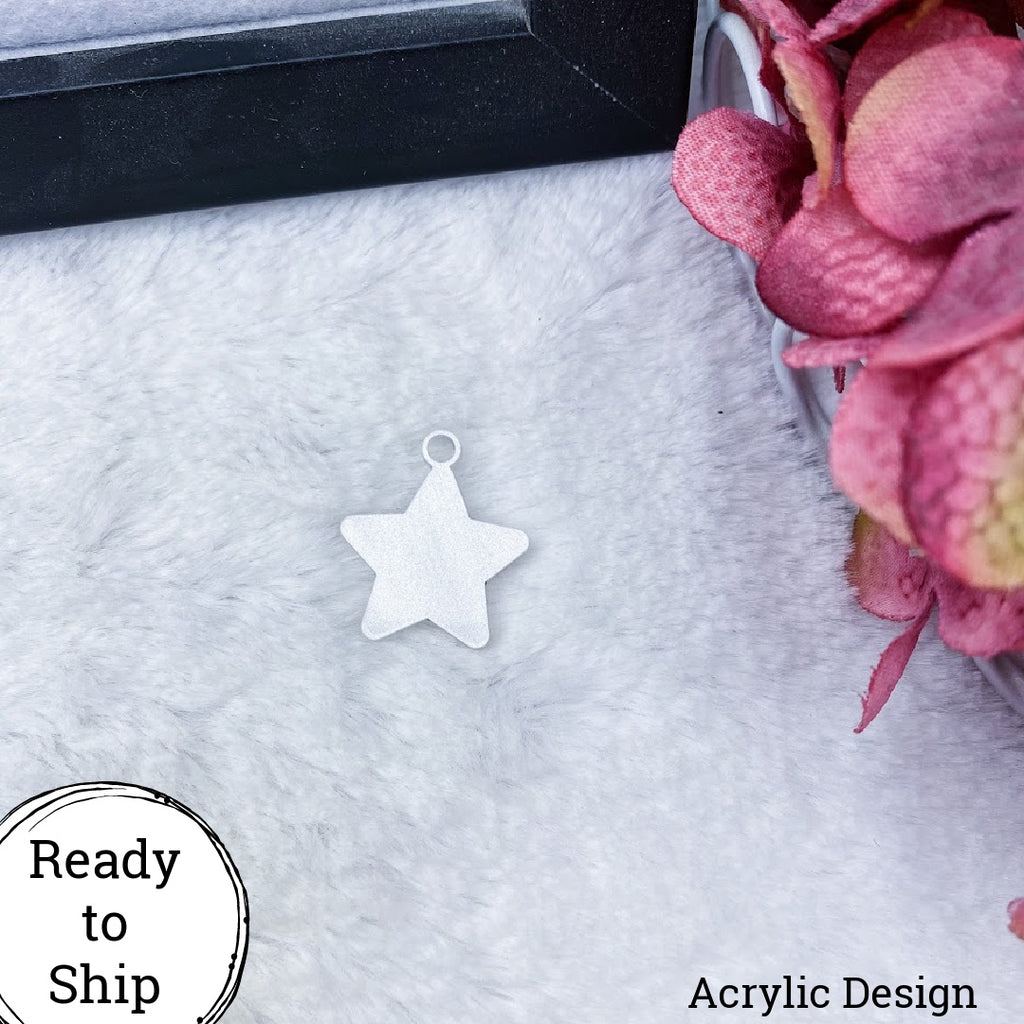 Glitter Marble Acrylic Star Charm - Ready to Ship