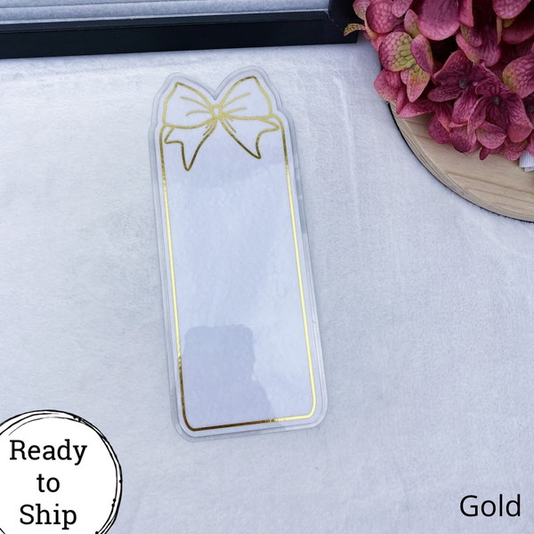 Weeks Gold Center Bow Tab - Ready to Ship