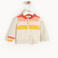 AMALFI - Kids Striped Cardigan  PEACH