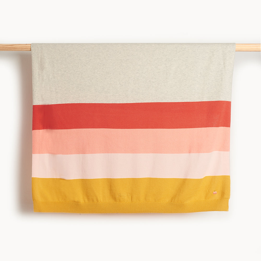 ANTIGUA - Baby Striped Blanket PEACH