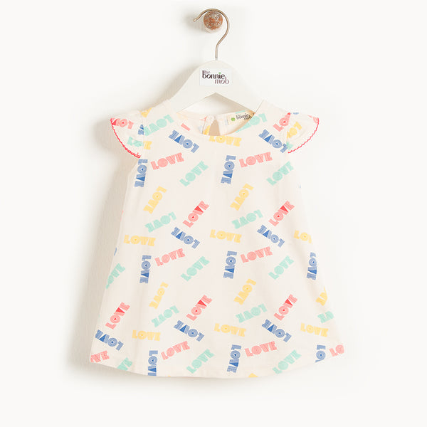 BALI - Kids Dress With Frill Shoulder  LOVE