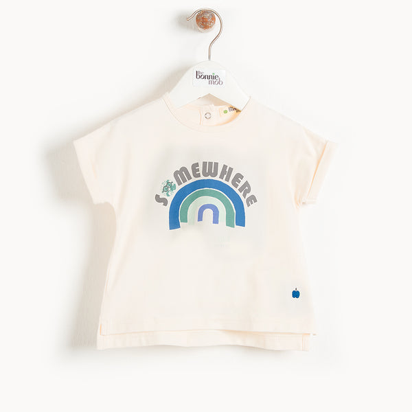 BARBADOS - Kids T-Shirt  BLUE RAINBOW