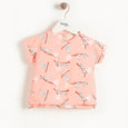 BARBADOS - Baby T-Shirt PEACH LEOPARD
