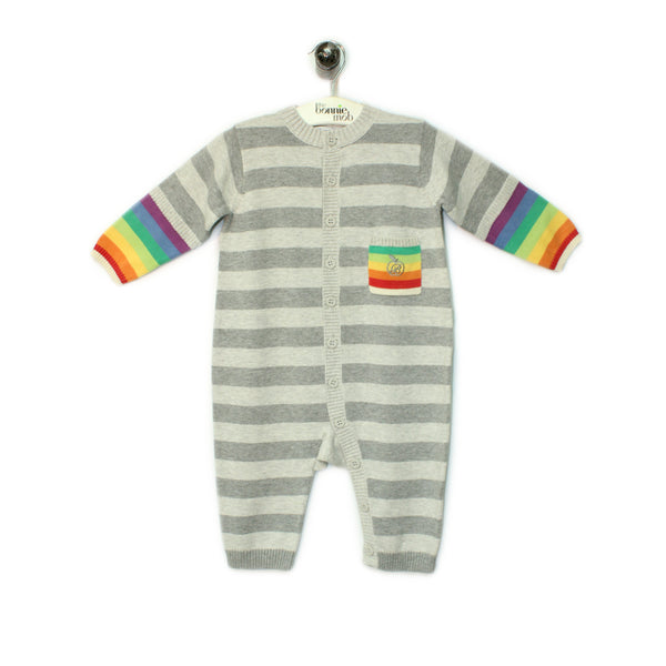 BB020A - Baby - Playsuit - GREY