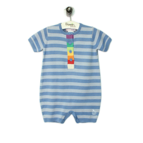 BB082A - Baby - Playsuit - BLUE