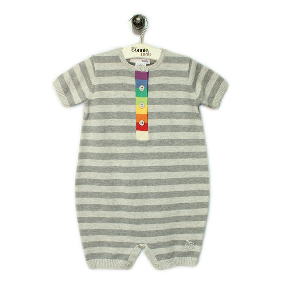BB082A - Baby - Playsuit - GREY