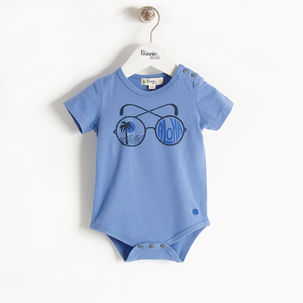 BEDE - Baby - Bodysuit - BLUE PLACED PRINT