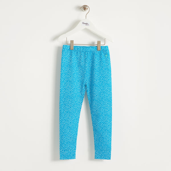 BILLIE - Kids - Legging - BLUE TREE PRINT