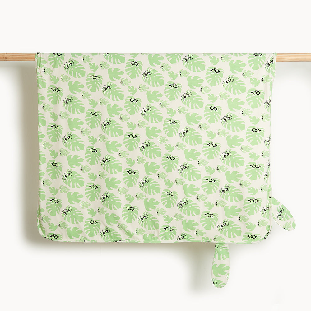 CANNES - Baby Blanket With Hood LEAF