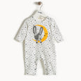 CARTER - Moon Bunny Applique Playsuit - Baby Unisex - Cream star print